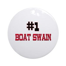 Number 1 BOAT SWAIN Ornament (Round)
