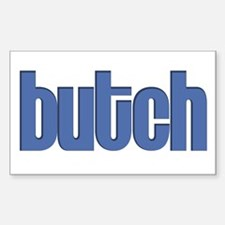 Butch Rectangle Decal