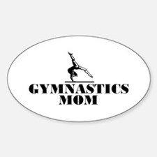 Gymnastics MOM Oval Decal