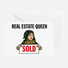 SALES QUEEN Greeting Card