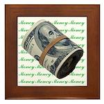 I am Financially Free! Framed Tile