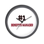 Number 1 BENEFITS MANAGER Wall Clock