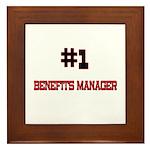 Number 1 BENEFITS MANAGER Framed Tile