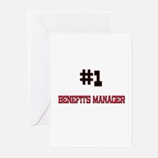 Number 1 BENEFITS MANAGER Greeting Cards (Pk of 10