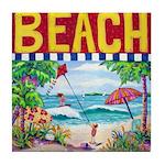 Beach Kids Tile Coaster