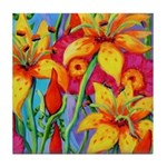 Silly Lillies Tile Coaster