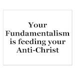 Fundamentalism & Anti-Christ Small Poster