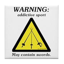 Warning: Addictive Sport Tile Coaster