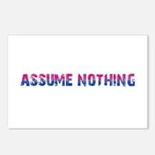 Assume Nothing Postcards (Package of 8)