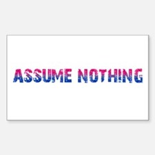 Assume Nothing Rectangle Decal