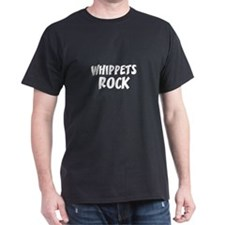 WHIPPETS ROCK Black T-Shirt