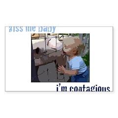 swine flu Rectangle Sticker 50 pk)