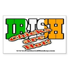 Irish Chicks; Rectangle Sticker 10 pk)