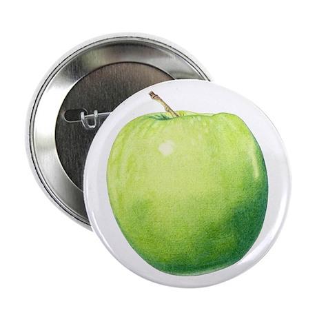"Green Apple 2.25"" Button"