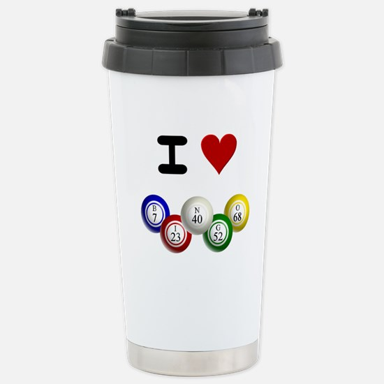 I LUV BINGO Stainless Steel Travel Mug