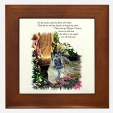 Belgian Tervuren Art Framed Tile