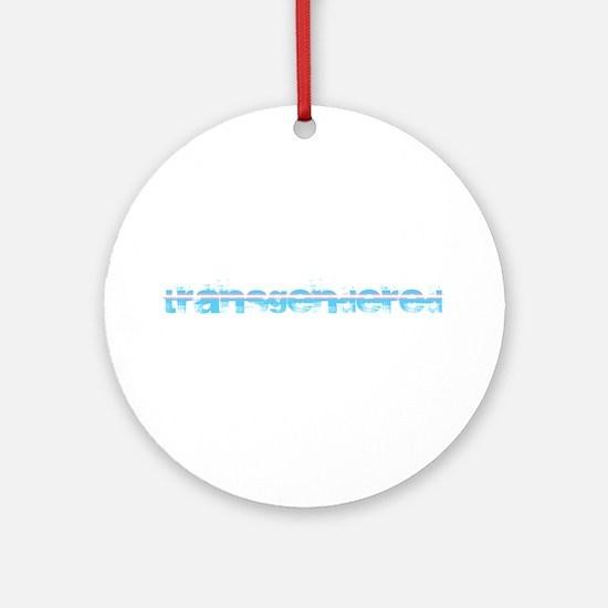 Grungy Transgendered Round Ornament