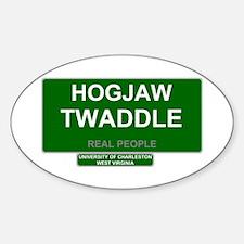 REAL PEOPLE - HOGJAW TWADDLE Decal