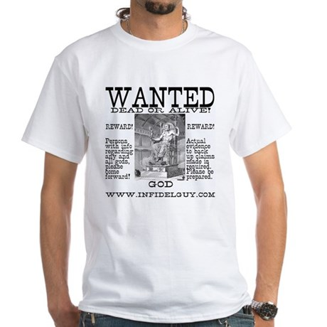 Wanted - God - White T