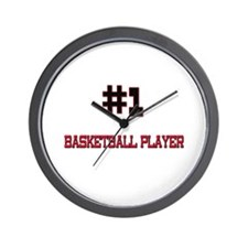 Number 1 BASKETBALL PLAYER Wall Clock