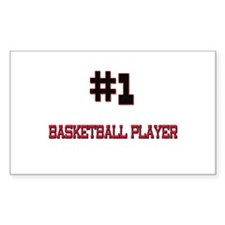 Number 1 BASKETBALL PLAYER Rectangle Decal