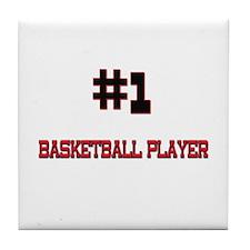 Number 1 BASKETBALL PLAYER Tile Coaster