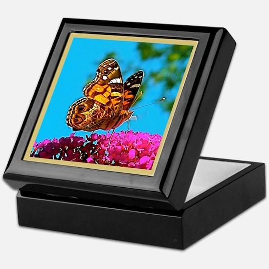 American Painted Lady Butterfly Keepsake Box