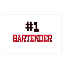 Number 1 BARTENDER Postcards (Package of 8)