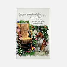 Brittany Spaniel Art Rectangle Magnet (100 pack)