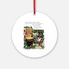 Brittany Spaniel Art Ornament (Round)