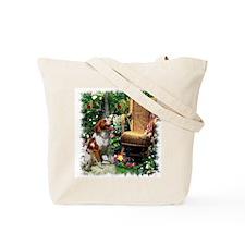 Brittany Spaniel Art Tote Bag