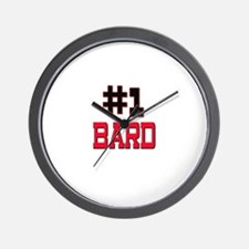 Number 1 BARD Wall Clock