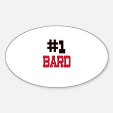 Number 1 BARD Oval Decal
