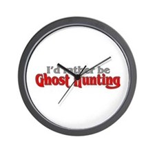 Rather Be Ghost Hunting Wall Clock