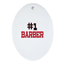 Number 1 BARBER Oval Ornament