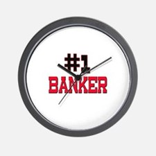 Number 1 BANKER Wall Clock