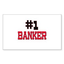 Number 1 BANKER Rectangle Decal