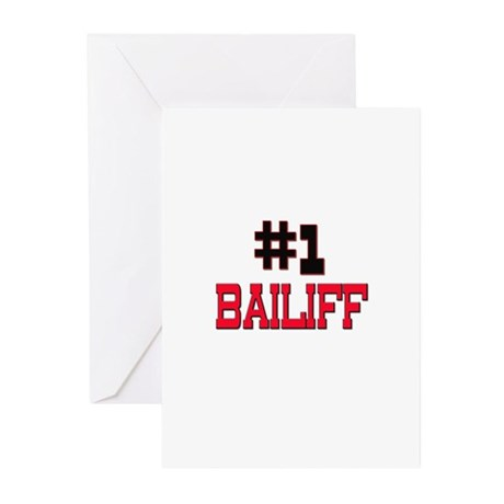 Number 1 BAILIFF Greeting Cards (Pk of 10)