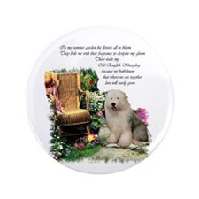 "Old English Sheepdog 3.5"" Button (10 pack)"