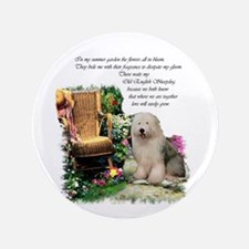 """Old English Sheepdog 3.5"""" Button (10 pack)"""