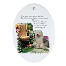 Old English Sheepdog Oval Ornament