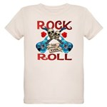 Rock N Roll logo Blue guitar Organic Kids T-Shirt