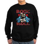 Rock N Roll logo Blue guitar Sweatshirt (dark)