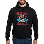 Rock N Roll logo Blue guitar Hoodie (dark)
