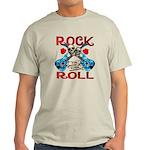 Rock N Roll logo Blue guitar Light T-Shirt