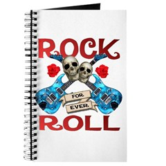 Rock N Roll logo Blue guitar Journal