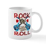 Rock N Roll logo Blue guitar Mug
