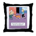 Dog Ice Breaker Throw Pillow