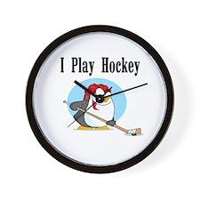 Penguin Hockey Wall Clock
