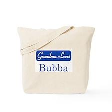 Grandma Loves Bubba Tote Bag